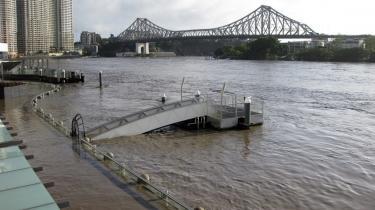 Brisbanes centrum står under vand.