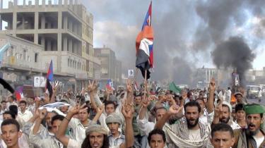 Demonstrerende folkemasser kræver præsident Ali Abdullah Salehs afgang