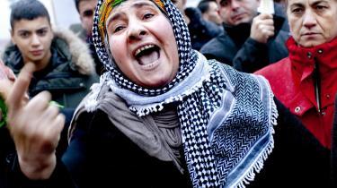 Bølgerne gik højt, da herboende kurdere i oktober sidste år markerede deres utilfredshed med anklagerne mod Roj-TV.