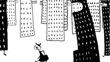'frøken Mærkværdig & Karrieren' er en morsom, lille tegnefilm om forventninger og præstationsangst
