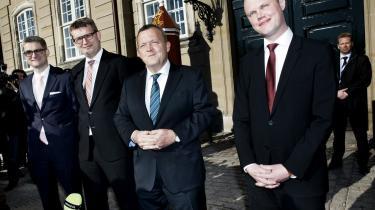Idealopstillingen kalder kilder i Venstre Lars Løkke Rasmussens nye hold, der nu tæller Søren Pind, ny integrationsminister, Troels Lund Poulsen, ny undervisningsminister, samt Peter Christensen, ny skatteminister.