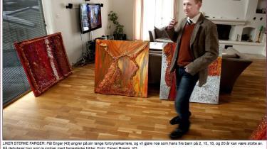 Munch-tyven Pål Enger forsøger sig nu selv som kunstner