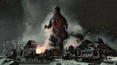 Den japanske Godzilla-figur i frontalt sammenstød med den menneskelige civilisation. Filmen var udtryk for instruktørens fascination af atomkraft.