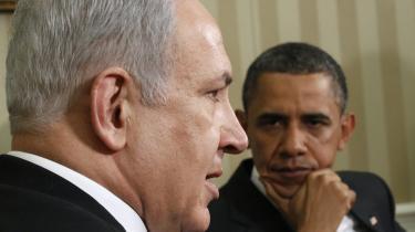 Den israelske premierminister Benjamin Netanyahu (t.v.) var alt andet end begejstret for den amerikanske præsident Barack Obamas krav om israelske indrømmelser i konflikten med palæstinenserne.