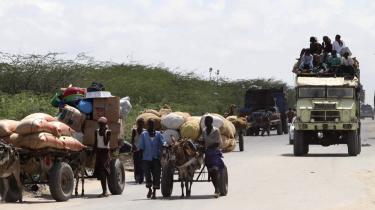Kampe og tørke sender adskillige på flugt i Somalia.