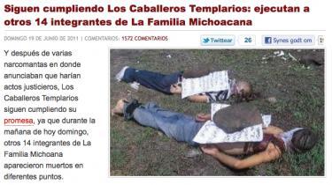 En række mexicanske nyhedsblogs har med deres billeder af narkokrigens ofre rykket grænsen for, hvad man kan tillade sig at vise af blod og lemlæstelse. Men er de ucensurerede billeder den eneste måde at få sandheden om blodbadet frem på  eller blot en måde at hjælpe forbrydere med at sprede panik og forråelse?
