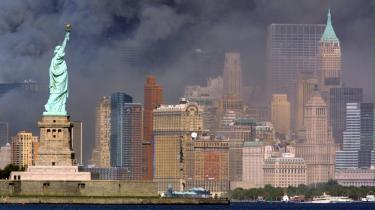 Frihedsgudinden i New York efter angrebene 11. september for ti år siden.