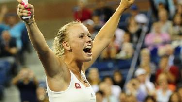 Verdensetteren. Caroline Wozniacki gik videre til kvartfinalen ved US Open for tredje år i træk efter mandagens sejr over Svetlana Kuznetsova.