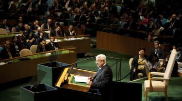 Mahmoud Abbas høstede stående bifald, da han i går fremlagde sin anmodning om FN-medlemskab for FN's Generalforsamling i New York.