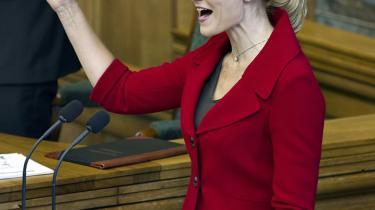 Statsminister Helle Thorning-Schmidt holdt sin første tale som statsminister til Folketingets åbning i tirsdags.