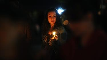 Udsigtsløst. En studerende ved Occupy DC's demonstration i Washington i sidste uge. Hun har intet at miste, hvis hendes dyrt betalte uddannelse kun giver hende adgang til social nedstigning.