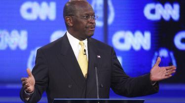 De republikanske præsidentkandidater mødes i aften til debat i Las Vegas. Og selv om tidligere guvernør Mitt Romney fortsat er storfavorit, er det en anden kandidat, der stjæler al rampelyset: den rapkæftede tidligere pizzaboss og Teaparty-darling Herman Cain