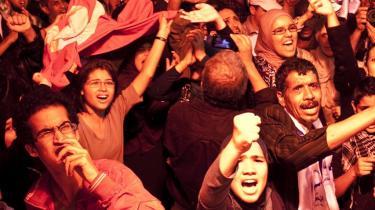 Fortjent? Tilhængere af Tunesiens islamiske Ennahda-parti fejrer valgsejren i søndags. Er de islamiske partiers succes blot en modreaktion, eller er den en naturlig følge af deres stærke organisation og deres rolle som opposotion under de gamle regimer?