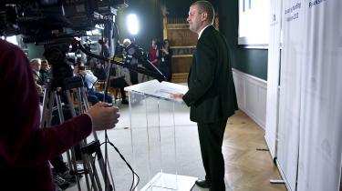 Finansminister Bjarne Corydon forventes at kunne præsentere den nye regerings første finanslov på søndag.