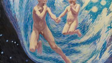 J.F. Willumsens 'To Svævende Drenge. En Moders Syn', 1910.