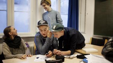 I 9. a på Ingrid Jespersens Gymnasieskole er der en vist opbakning til Anne Vangs forslag om at skære i støtten til privatskolerne, hvis de ikke tager et socialt ansvar.