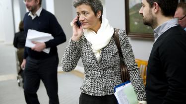 I går rejste indenrigs- og økonomiminister Margrethe Vestager (R) til Bruxelles for at indlede forhandlingerne om europagten, som skal forhandles endeligt færdig ved et EU-topmøde den 30. januar.