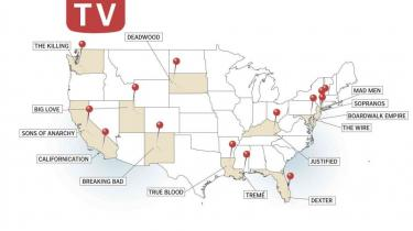 Louisiana, Kentucky, Utah, Californien, Florida, New Jersey. De bedste af de amerikanske tv-serier som dvd-aktuelle 'Justified' og 'Boardwalk Empire' fortæller ikke kun gode historier om mennesker under pres. De er også meget bevidste om, hvor de foregår og tegner tilsammen et mangfoldigt portræt af USA før  og nu