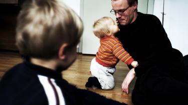 Danske mænd tager i gennemsnit blot 7,3 procent af barslen, mens islandske mænd – bl.a. på grund af øremærket barsel – tager   33,9 pct.   Arkiv