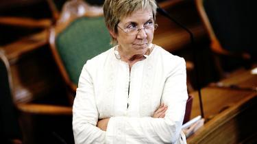 'Jeg er ikke nervøs i den forstand. Efterlønsdebatten er jo et eksempel på, at man ikke altid skal følge den stemning, der er på et givent tidspunkt, fordi vælgernes holdning jo kan flytte sig,' siger Radikale Venstres Marianne Jelved.