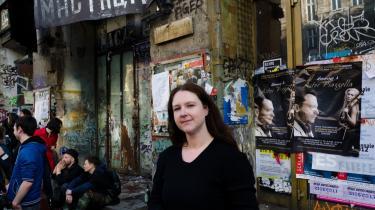 Linda Cerna fra Kunsthuset Tacheles er bekymret for Berlins ry som kreativ by.