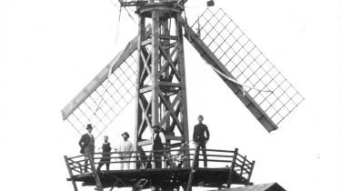 Poul la Cours første forsøgsmølle fra 1891.