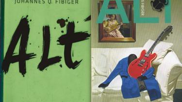 Det var et behov for at give et værdigt svar på en eksistentiel udfordring, der satte Johannes Fibiger i gang med at skrive debutromanen 'Alt', der er en reaktion på Janne Tellers 'Intet'. Men bogen var nær ikke udkommet. Kort før udgivelsen trak Gyldendal bogen tilbage. Nu er den i stedet udkommet på L&R