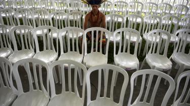 De brasilianske forhandlere har for alt i verden villet undgå en gentagelse af COP15 i København og har derfor presset voldsomt på for at få lukket forhandlingerne forud for regeringschefernes ankomst til Rio i dag. Her en deltager i det alternative folkelige topmøde i Rio.