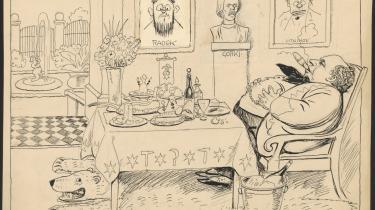 Ifølge politiinspektør Sigurd Tage-Jensens optegnelser overdragede forfatteren og kommunisten Martin Andersen Nexø i december 1919 indsmuglede dokumenter til den russiske Maksim Litwinoff. I 'Blæksprutten' årgang 1931 ses Andersen Nexø i sit hjem i Espergærde efter et ophold i Sovjet. På væggen hænger et billede af Litwinoff.