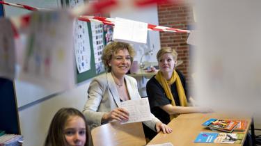 Børne og Undervisnngs-minister Christine Antorini på besøg på Lynd Skole i Fredericia. Antorini er en af de ministre, der har igangsat et markant værdiskifte i regeringen, modsat den populære antagelse.