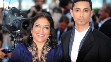 Instruktøren Mira Nair (t.v.) og hovedrolleindehaveren Riz Ahmed præsenterede 'The Reluctant Fundamentalist' i Venedig.