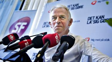 »Det er ikke en skuffet mand, der går,« siger Villy Søvndal, der afviser, at han føler sig presset til at stoppe som formand for SF