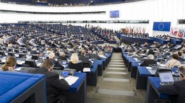 Europa-Parlamentet – her plenarsalen i Strasbourg – er det tætteste EU's borgere kommer på folkelig indflydelse med de 754 folkevalgte medlemmer, der vælges hvert 5. år. Næste gang i 2014.