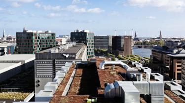 Et udsnit af den grønne korridor i København. Hovedstaden har i dag ca. 40 grønne tage over et areal på 30.000 kvadrameter. Med gældende lokalplaner kan det de kommende år blive til 200.000 kvadratmeter.