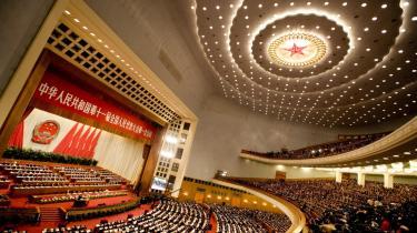 Det kinesiske kommunistpartis store folkekongres begynder den 8. november i Folkets Store Hal, hvis store sal kan rumme op til 10.000 personer.