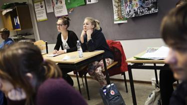 På Sølystskolen i Egå ved Aarhus undervises eleverne allerede i den danske model. Nu ønsker et flertal af Folketingets partier, at undervisningen i det danske arbejdsmarkeds indretning gøres obligatorisk.