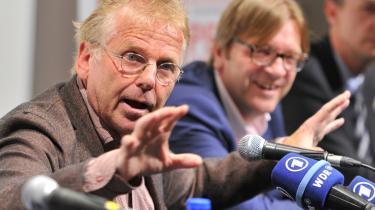 Magtskifte. Nationalstatens magtcentre er reelt er væk i morgen, vurderer Daniel Cohn-Bendit (t.v.) og Guy Verhofstadt i deres oplæg. Derfor skal Europa tænke føderalt lige nu, siger de.