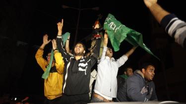 Palæstinensere i Gaza fejrer, hvad de kalder 'sejren over Israel', efter at våbenhvilen trådte i kraft i aftes.