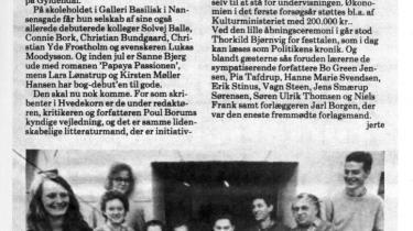 Modstanden var massiv, da Poul Borum og Per Aage Brandt i 1987 besluttede at oprette en dansk forfatterskole. I store dele af kulturlivet fnyste man ved tanken. I dag, 25 år senere, er det svært at forestille sig et litterært miljø uden arven fra kældereksperimentet i Nansensgade. Information tegner her et rids af begyndelsen