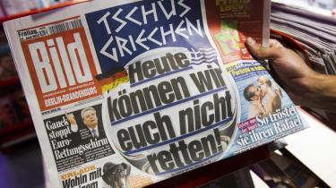 Krisen i printmedier er nu nået til Tyskland, efter at den har hærget USA, men også Danmark som et langstrakt jordskælv gennem en årrække med fyringer i bundter og nedskæringer. Bild er en sensationsavis og har mærket nedgangen hårdest: I 2007 solgte den 3,5 mio. dagligt, i dag er tallet faldet med næsten en fjerdedel til 2,7 mio. eksemplarer.