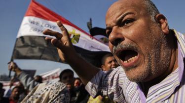 Egyptisk demonstration ved gårsdagens demonstration på Tahrirpladsen mod præsidents Mursis forfatningsudkast.