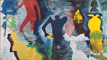 Kirkeby. I starten af 1960'erne var den unge Per Kirkeby optaget af, hvad der skete i USA. ARoS-samlingen (billedet) har sin hovedvægt i Kirkebys billeder fra de sene tressere og begyndelsen af halvfjerdserne.