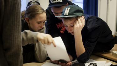 I København får en række privatskoler større offentlig støtte end folkeskoler med en tilsvarende sammensætning. På billedet ses elever på Ingrid Jespersens Gymnasieskole.