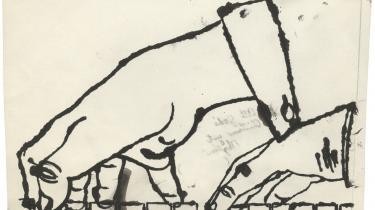 Den urene linje, ligesom lidt sjasket, er karakteristisk for Andy Warhols tegnestil Illustration: No title (Two Hands Playing Piano) af Andy Warhol   Den urene linje, ligesom lidt sjasket, er karakteristisk for Andy Warhols tegnestil Illustration: No title (Two Hands Playing Piano) af Andy Warhol