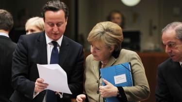 I de seneste uger har flere forsøgt at påvirke premierminister David Cameron inden den længe ventede – og flere gange udskudte – »store tale« om Storbritanniens fremtid i Europa. Her ses David Cameron med Tysklands kansler Angela Merkel i Bruxelles.