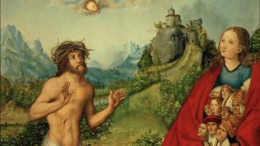 Åndens kilde. Thomas Nagel overgiver sig ikke til en religiøs forklaring, men stiller sig heller ikke tilfreds med evolutions-lærens forklaringer. Han mener, der er ting, vi måske aldrig vil forstå og udfordrer dermed hele oplysningtænkningens grundlag. Ill.: Maleri og træskærearbejde fra 1500-tallet/Scanpix