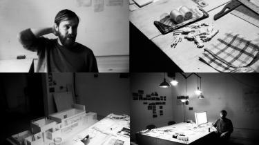Jesper Just har netop bygget en model af den danske pavillon i Venedig, hvor han vil udstille tre værker til sommer. 'Da jeg blev færdig på Kunstakademiet, havde jeg aldrig forestillet mig, at man kunne leve af videokunst. Så solgte jeg min første film til Statens Kunstfond og tænkte: Okay, måske dette her kan løbe rundt,' siger den danske videokunster.