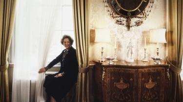 Margaret Thatchers betydning for de litterære strømninger i britisk litteratur var og er stadig så stor, at den sidste og største roman om Thatchers Storbritannien næppe er skrevet endnu. Foto: Gamble/SIPA/Scanpix
