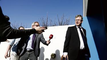 Tidligere departementschefi Integrationsministeriet Claes Nilas blev i går afhørti Statsløsekommissioneni Søborg