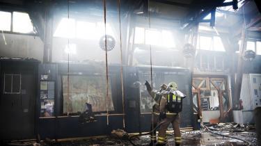 Trods den voldsomme brand på Frihedsmuseet lykkedes det brandvæsnet at redde museets uerstattelige samling af blandt andet gamle uniformer, fotos og illegale blade.